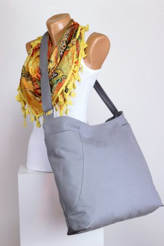 light grey hobo bag