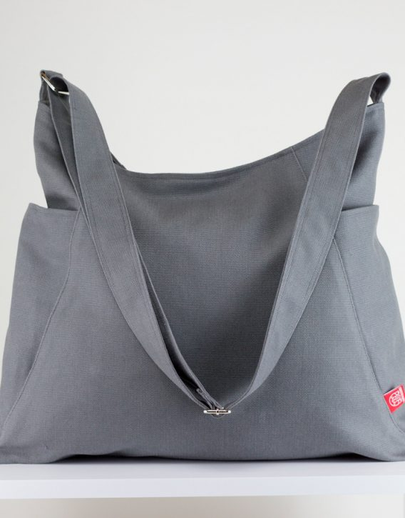 Gray Hobo Bag Durable Large Pockets Extra Large Bag Long Strap ...