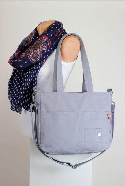 light gray bag
