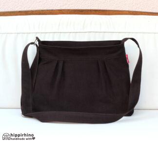 Dark Brown Pleated Small Purse Bag