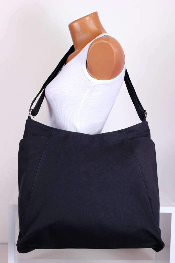 Dark Gray Hobo Bag Durable Large Pockets Extra Large Bag Long ...