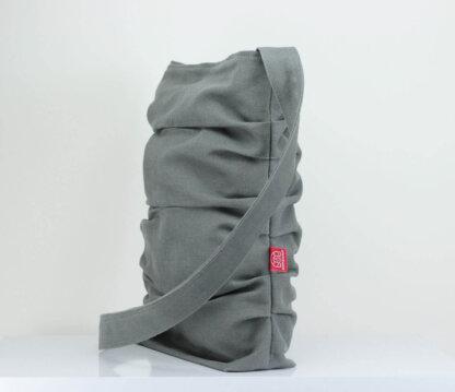 Gray Canvas Tote Bag