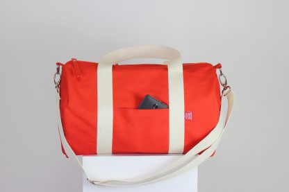 orange duffle sports bag
