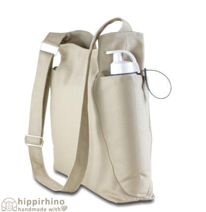 Beige Soft Sling Canvas Hobo Bag