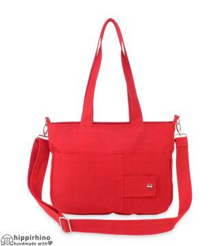 Red Canvas Shoulder Crossbody Purse Bag