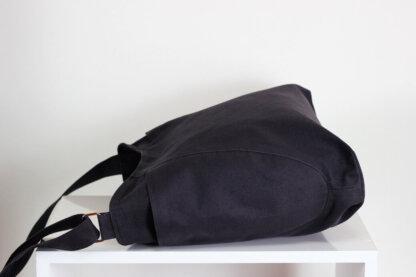 dark gray hobo bag