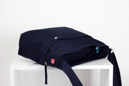 Blue Messenger Bag