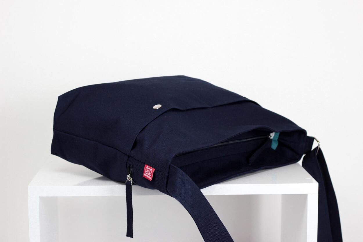 e989208e5629 Navy Blue Messenger Bag Unisex College Bag Crossbody Long Adjustable Strap  Handmade Big Pocket Large Bag Zippered Close Durable Bag Washable