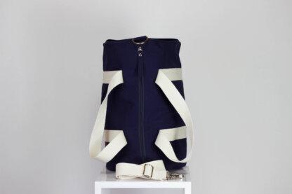 Blue duffle sports bag