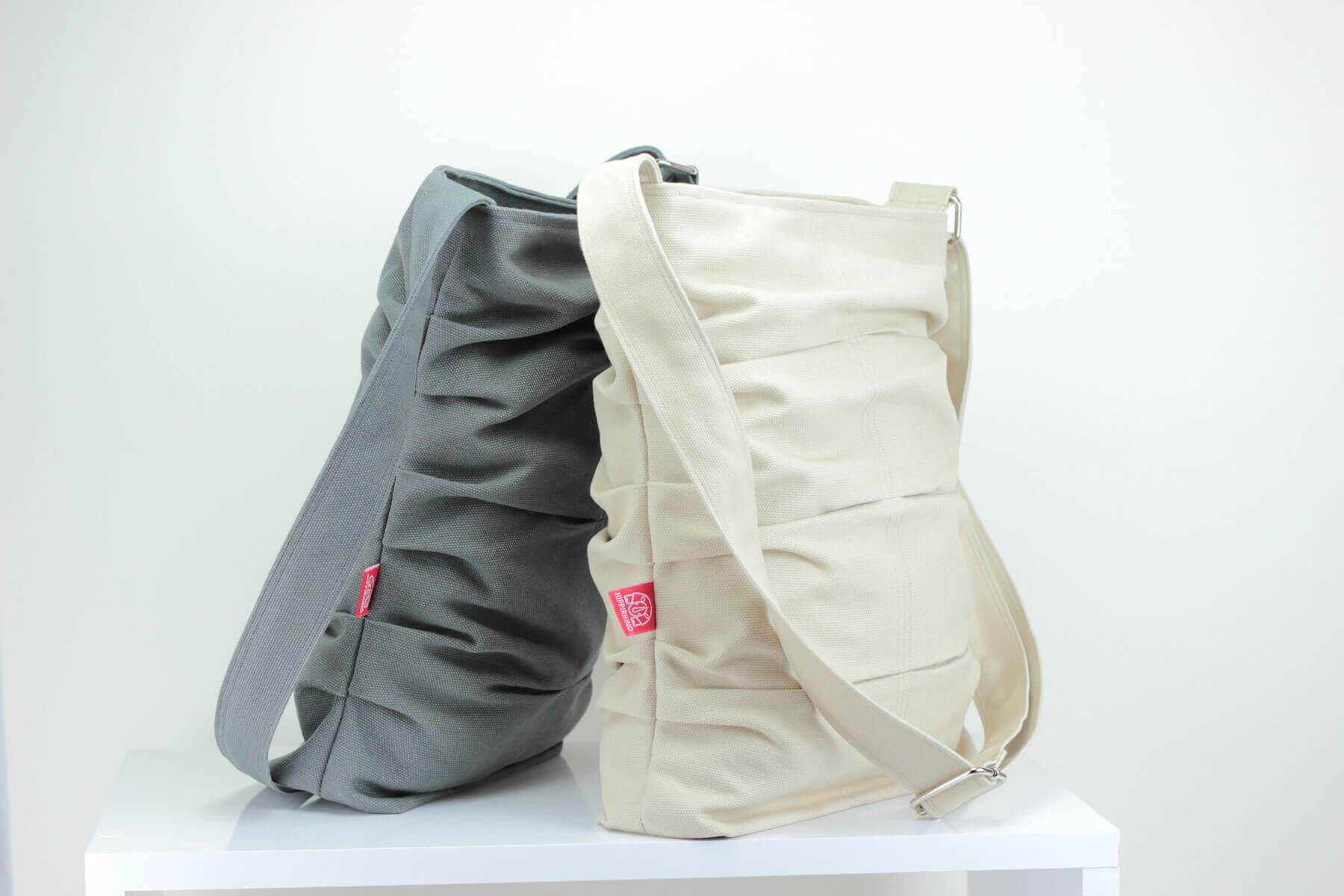 Dark Gray, Handmade, Durable, Crease, Shirred Bag, Pleated Bag ...