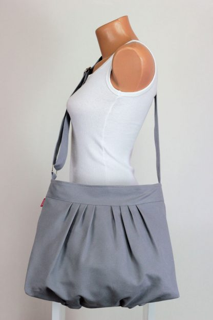 pleated canvas bag