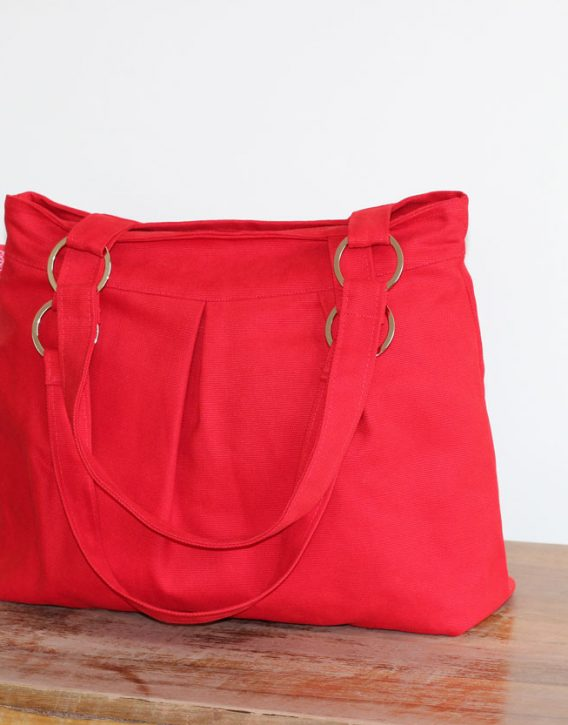 Canvas Handbags Red Purse Bag Stainless Accessories Washable Shoulder