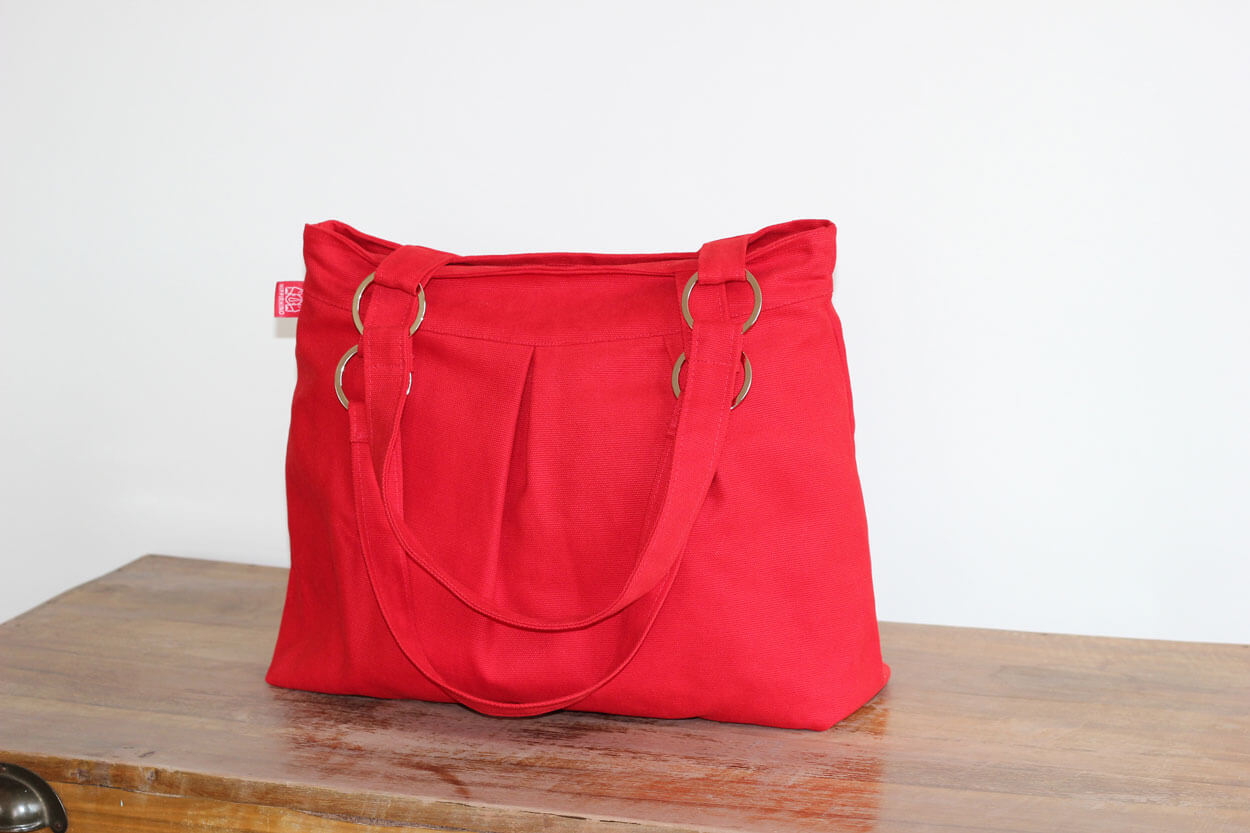 Red Canvas Purse Bag Stainless Accessories Washable Shoulder Stylish And Durable Handbags Everyday Diaper Different Color Available