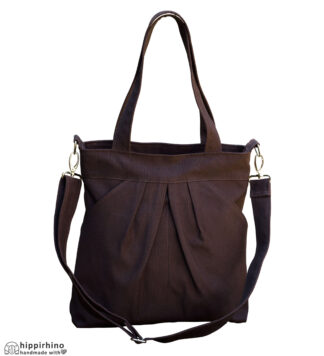Dark Brown Shoulder Crossbody bag With Pockets