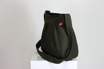 Pleated Canvas Purse Bag