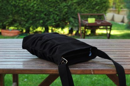 Black small tote bag