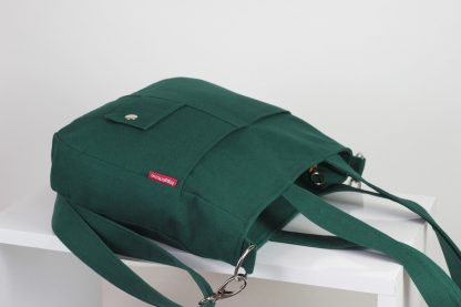 green canvas purse bag