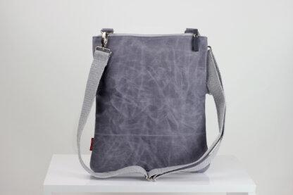 Light Grey waxed foldover bag from hippirhino