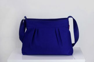 Sax blue small crossbody canvas purse bag