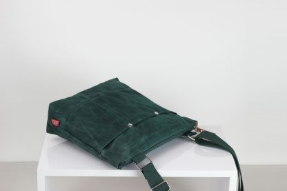 Green Waxed Unisex Tote Bag