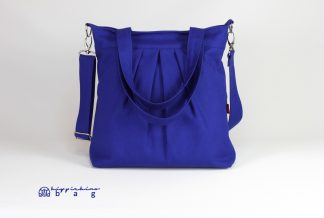 Sax Blue Canvas Shoulder Crossbody Bag