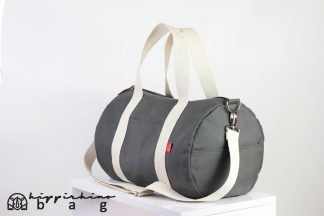 Grey Duffle Unisex Sport Bag
