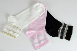 Transparent Silvery Ankle Socks