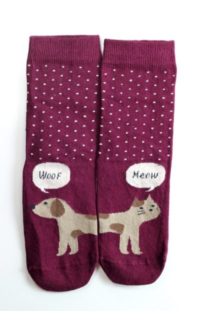 dog cat funny socks