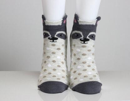 3D Ear Raccoon Socks