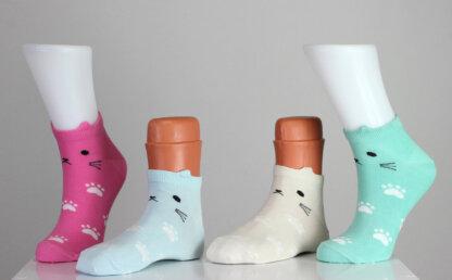 Kitty happy funny socks