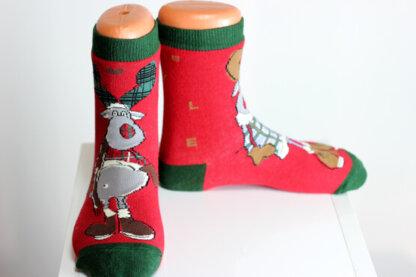 Christmas deer socks