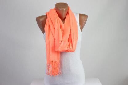 Orange Luminous Scarf