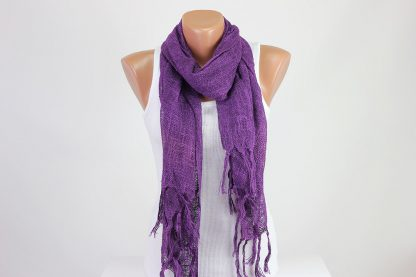 Lilac Perforated Scarf