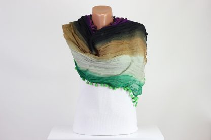 Pompom Scarf Scarves