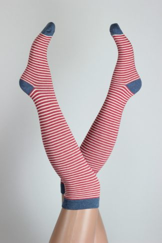 Over Knee Striped Socks