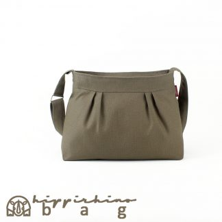 Small Canvas Pleated Purse Bag