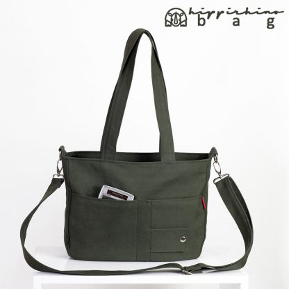 Dark Green Canvas Ladies Bag