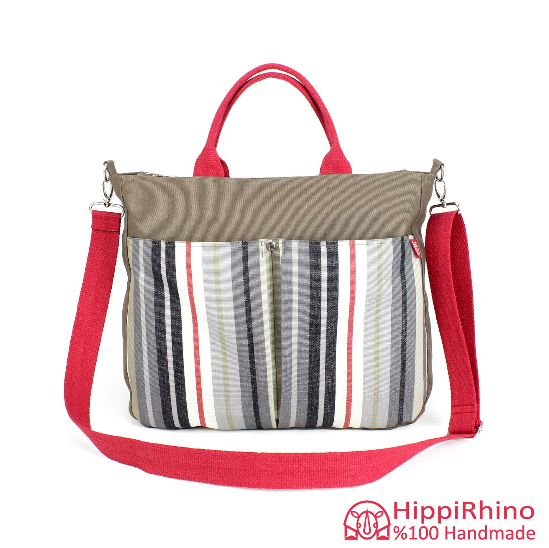 cd354fa9c8b Striped Bag Fashion Tote Canvas Bag Handbag Colorful Cotton Strap Handle  Pocket Bag Gift For Her Bridesmaids Church Bag Sturdy Diaper Bag