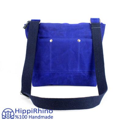 Blue Waxed Tote Bag