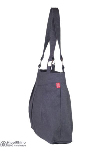 Dark Grey Canvas Shoulder Bag