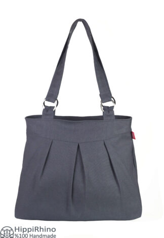 Dark Grey Canvas Shoulder Bag