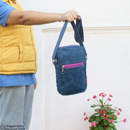 Small Unisex Waxed Tote Bag