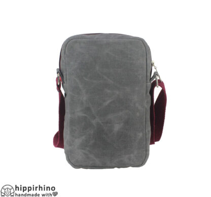 Small Gray Unisex Waxed Tote Bag